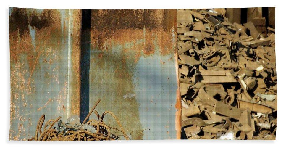 Junk Bath Sheet featuring the photograph Junk 12 by Anita Burgermeister