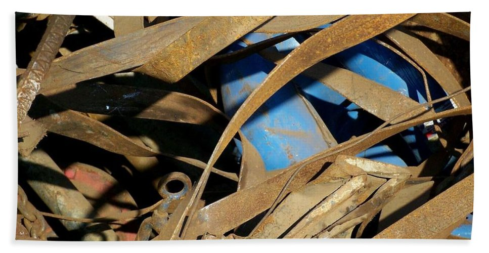 Junk Bath Sheet featuring the photograph Junk 3 by Anita Burgermeister