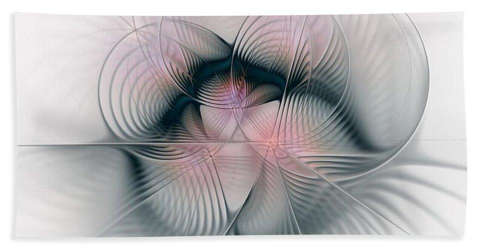 Fractal Hand Towel featuring the digital art Junos Mercy - Fractal Art by NirvanaBlues