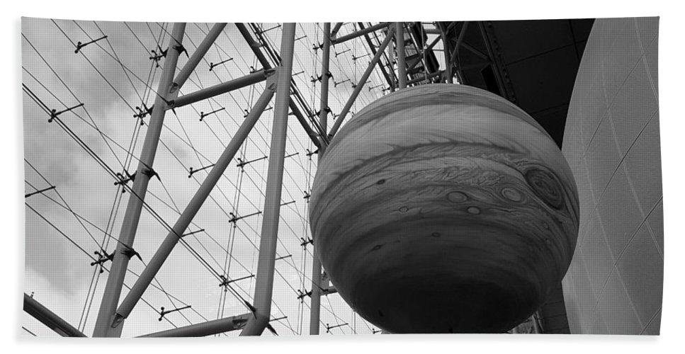 Jupiter Bath Sheet featuring the photograph Jupiter B W by Rob Hans