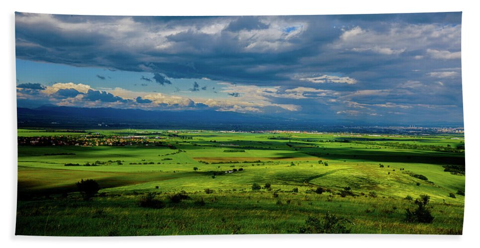 Beautiful Nature Hand Towel featuring the photograph Just A Few Miles Away by Ivan Hristov