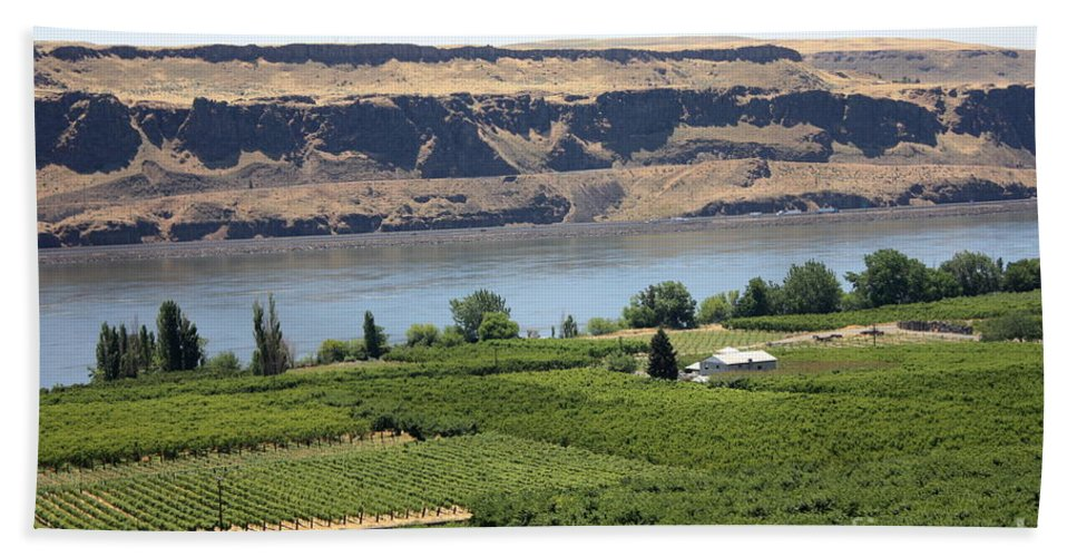Columbia River Gorge Bath Towel featuring the photograph Just Add Water... by Carol Groenen