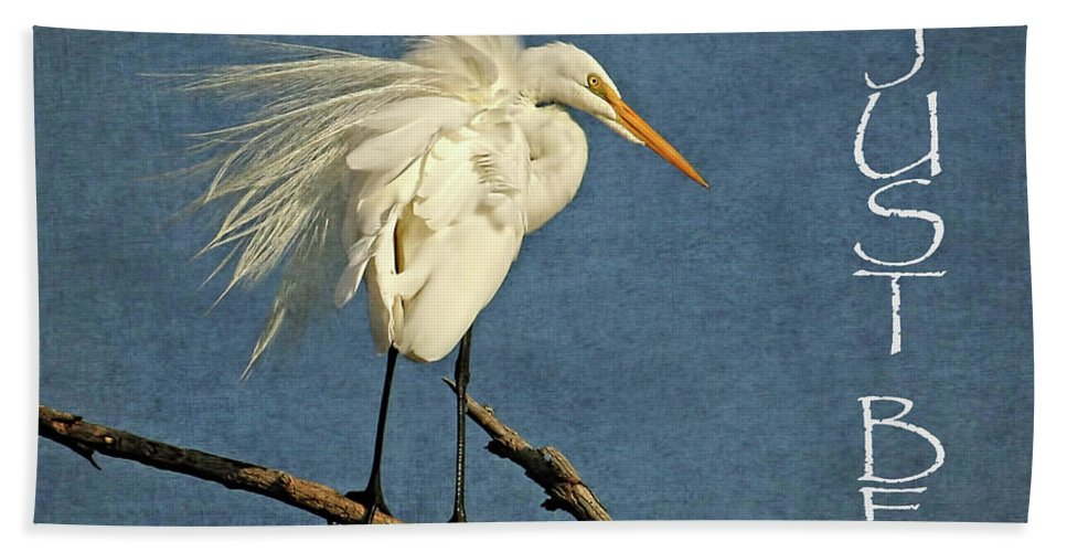 Great Egret Hand Towel featuring the photograph Just Be by HH Photography of Florida