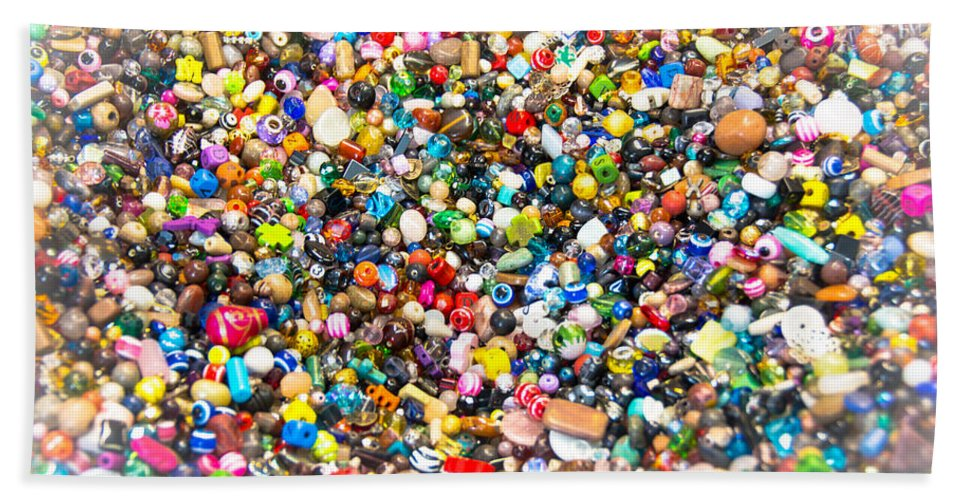 Beads Bath Sheet featuring the photograph Just Beads by Sherman Perry