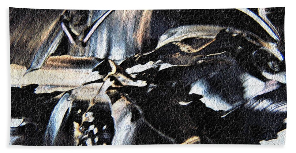 Black & White Hand Towel featuring the photograph Just Black And White by Nordan Nielsen