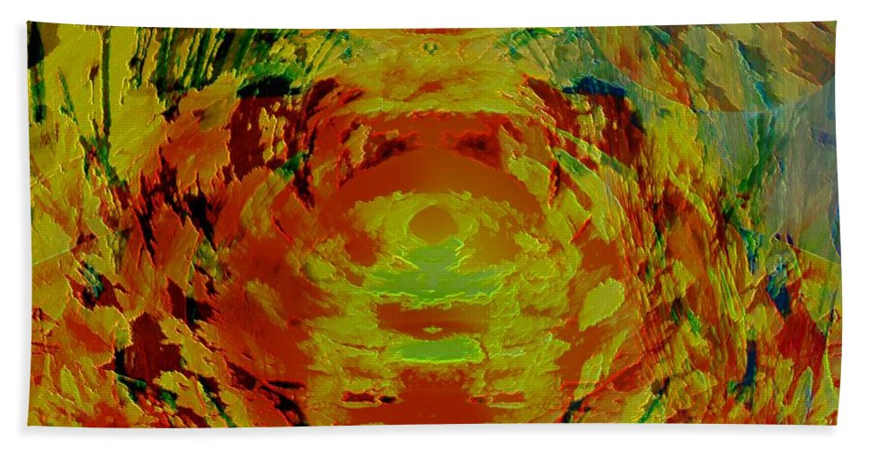 Flowers Hand Towel featuring the digital art Just Flowers by Helmut Rottler
