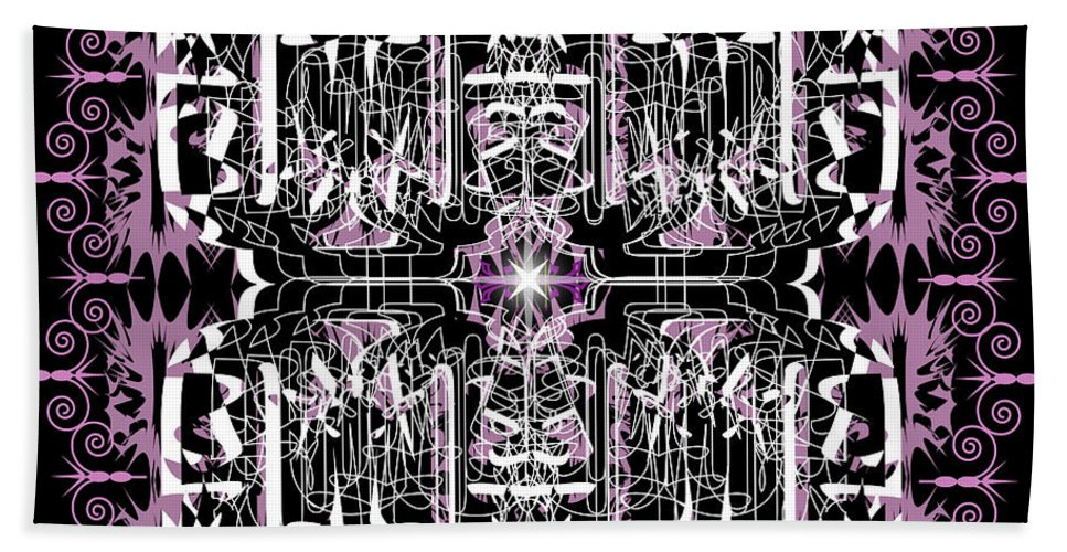 Abastract Hand Towel featuring the digital art Just For Fun 3 by George Pasini