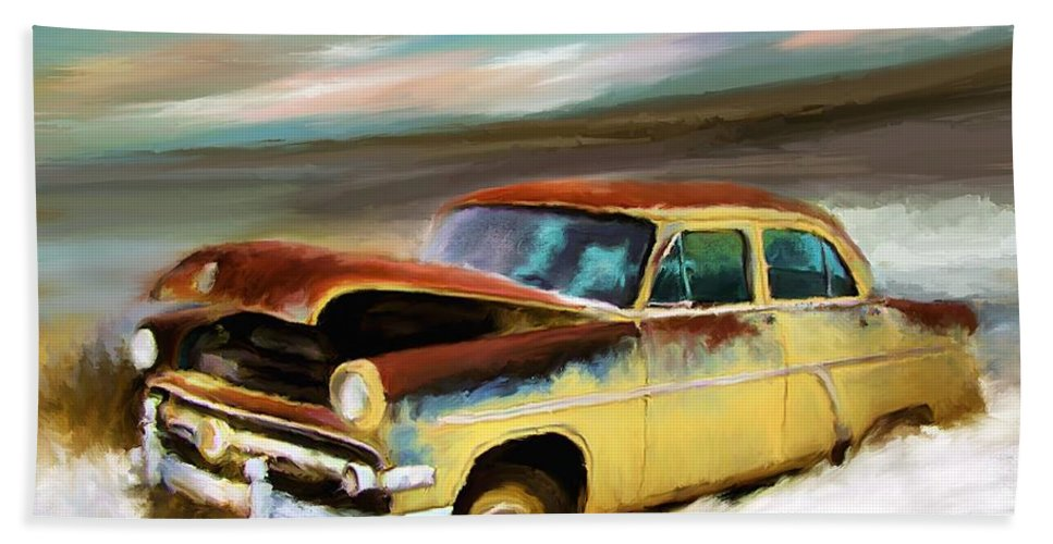 Digital Art Bath Sheet featuring the painting Just Needs A Paint Job by Susan Kinney