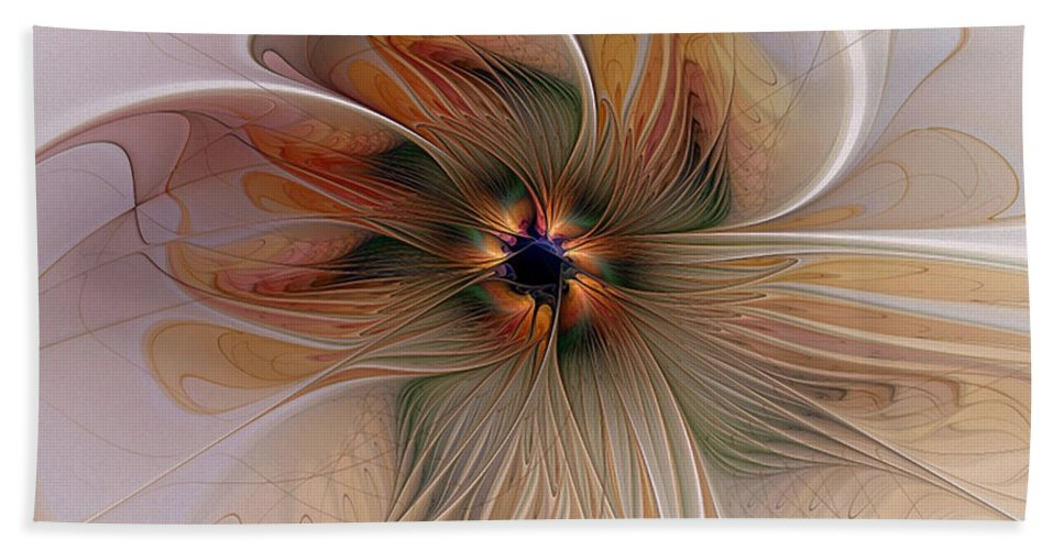 Digital Art Hand Towel featuring the digital art Just Peachy by Amanda Moore