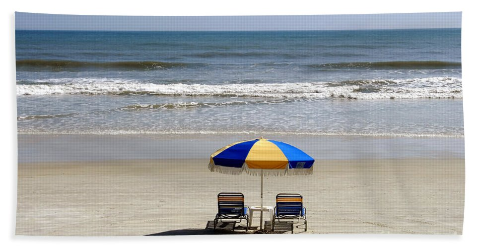 Beach Bath Sheet featuring the photograph Just The Two Of Us by David Lee Thompson