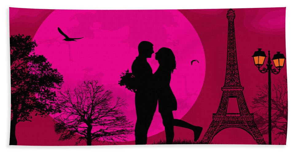 Home Art & Collectibles Hand Towel featuring the digital art Just The Two Of Us by Don Kuing