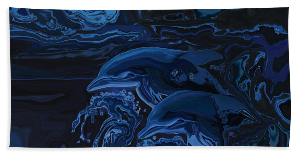 Animal Bath Towel featuring the digital art Just The Two Of Us by Rabi Khan
