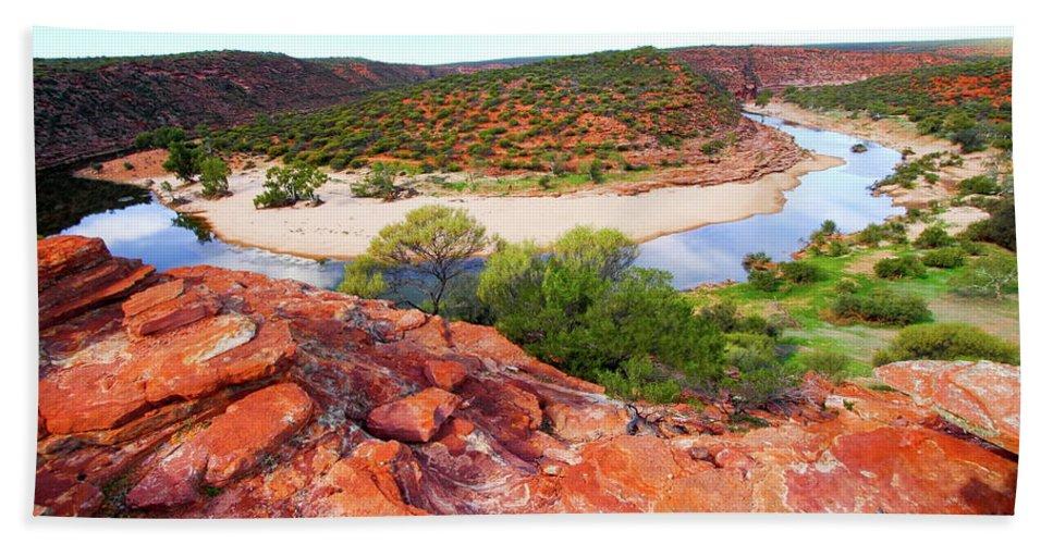 Kalbarri National Park Bath Sheet featuring the photograph Kalbarri National Park 2am-29388 by Andrew McInnes