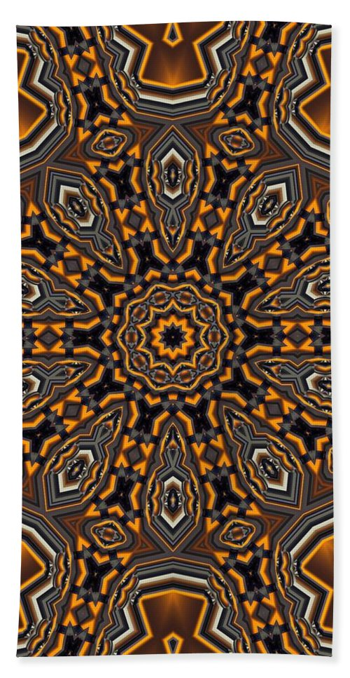 Kaleidoscope Bath Sheet featuring the digital art Kaleidoscope 25 by Ron Bissett