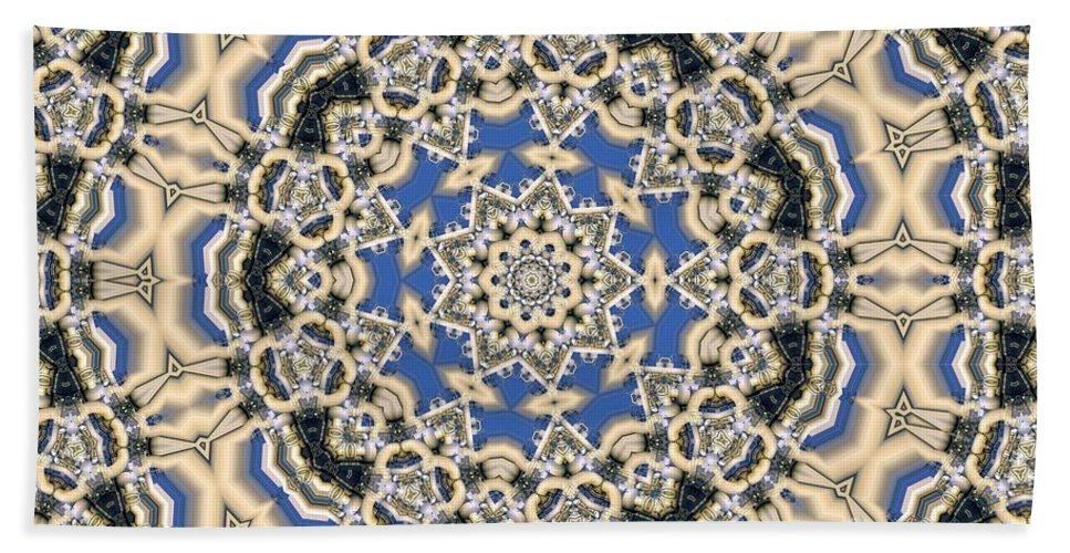 Kaleidoscope Hand Towel featuring the digital art Kaleidoscope 77 by Ron Bissett