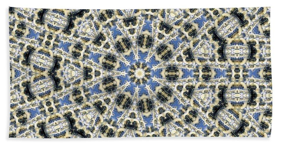 Kaleidoscope Bath Sheet featuring the digital art Kaleidoscope 78 by Ron Bissett