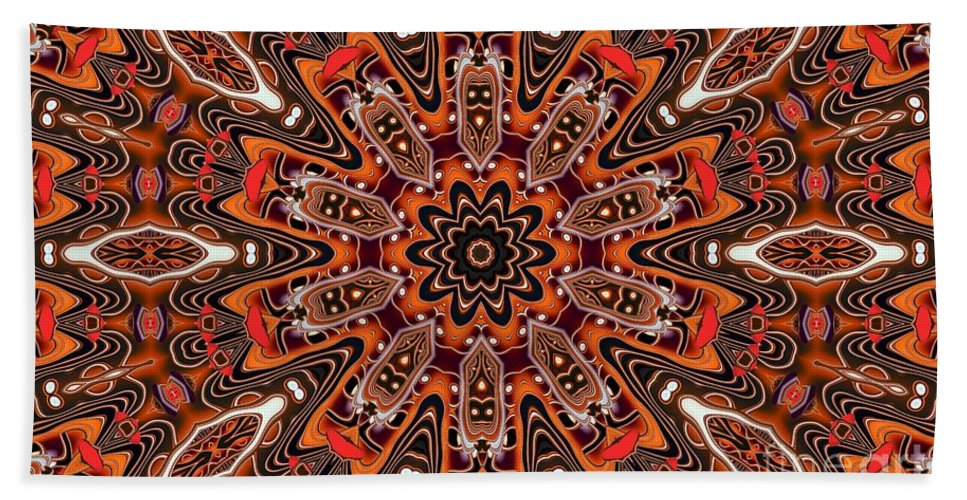 Kaleidoscope Hand Towel featuring the photograph Kaleidoscope 85 by Ron Bissett