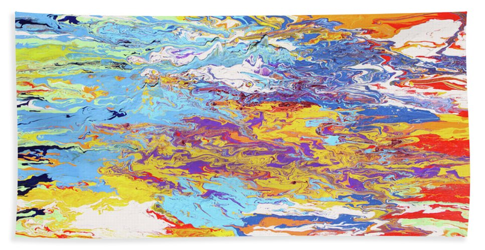 Fusionart Bath Sheet featuring the painting Kaleidoscope by Ralph White