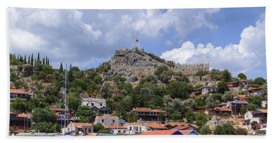 Kekova Archipelago Hand Towel featuring the photograph Kalekoey - Turkey by Joana Kruse