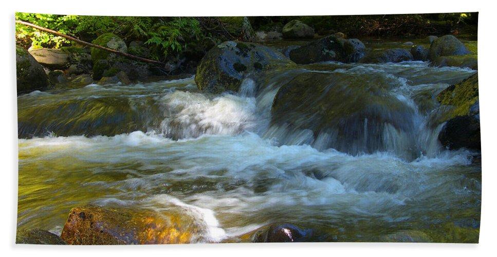 Creek Hand Towel featuring the photograph Kanaka Creek by Sharon Talson