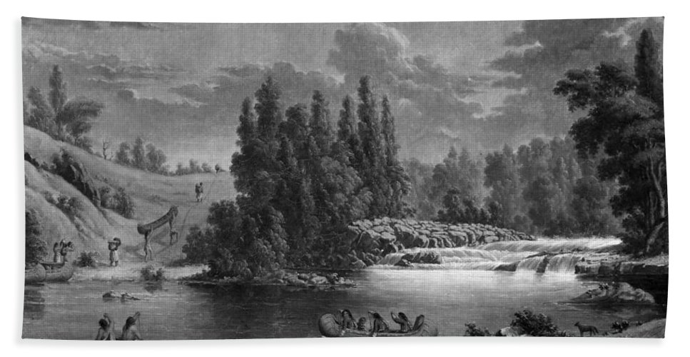 1851 Bath Sheet featuring the photograph Kane: White Mud Portage by Granger