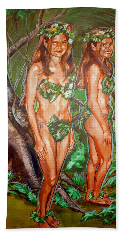 Fairy Bath Sheet featuring the painting Karen M Times Two At Dragoncon by Bryan Bustard