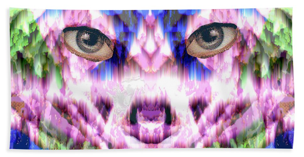 Cat Hand Towel featuring the digital art Katechism by Seth Weaver