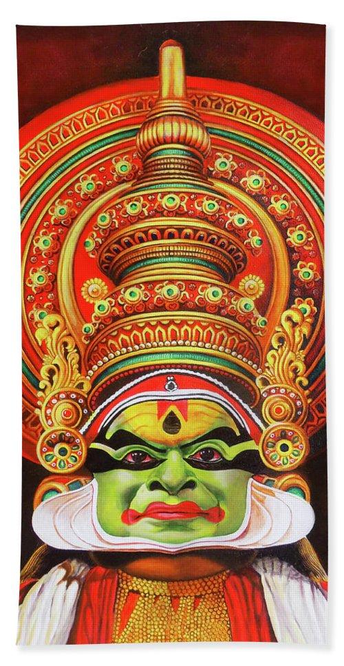 Kathakali The Kerala Dance Art Hand Towel For Sale By Asp Arts