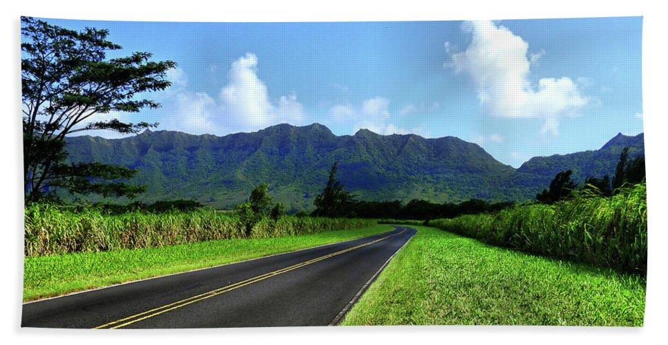 Hawaii Bath Sheet featuring the photograph Kauai Countryside by Laura Ragland