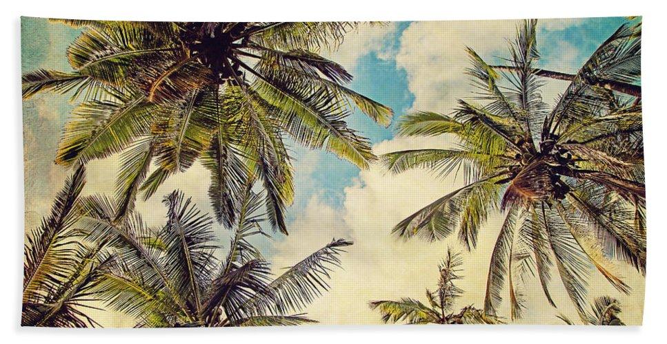 Photography Bath Towel featuring the photograph Kauai Island Palms - Blue Hawaii Photography by Melanie Alexandra Price