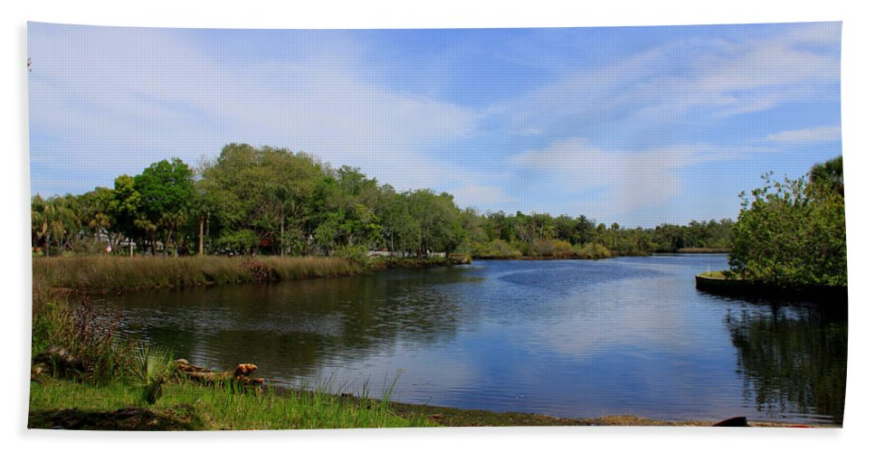 Cotee River Hand Towel featuring the photograph Kayaking The Cotee River by Barbara Bowen