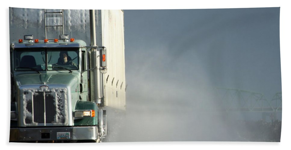 Truck Hand Towel featuring the photograph Keep On Truckin'... by Holly Ethan