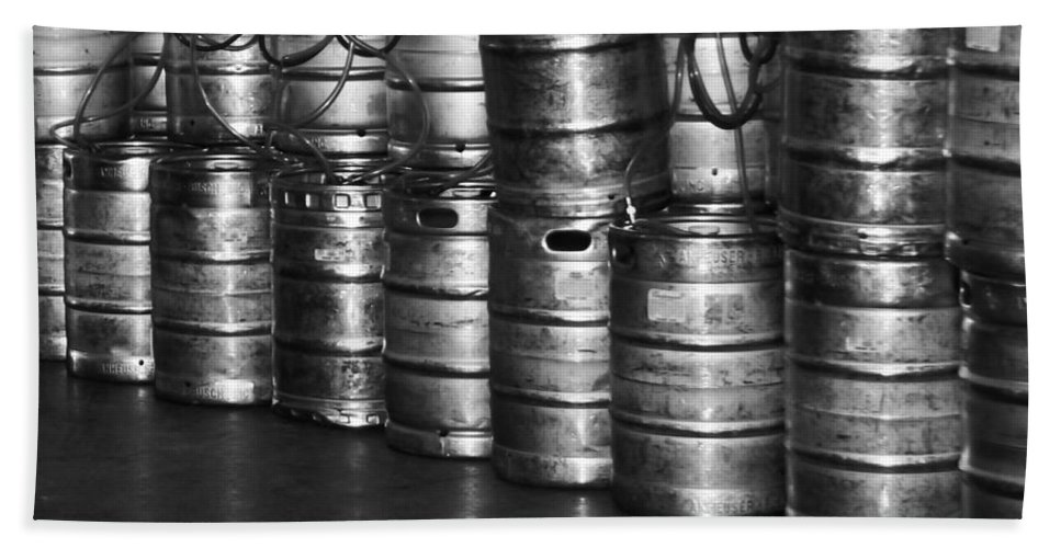 Keg Bath Sheet featuring the photograph Keg Room by Colleen Coccia