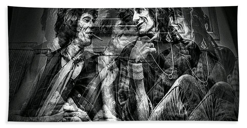 Rolling Stones Hand Towel featuring the photograph Keith And Ronnie 2 by Jeff Watts