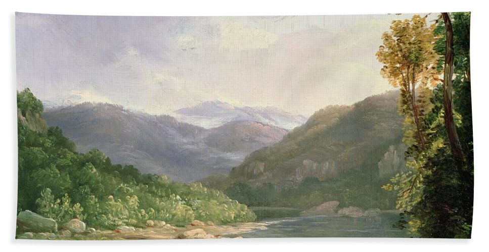 Kentucky River Hand Towel featuring the painting Kentucky River by Thomas Worthington Whittredge