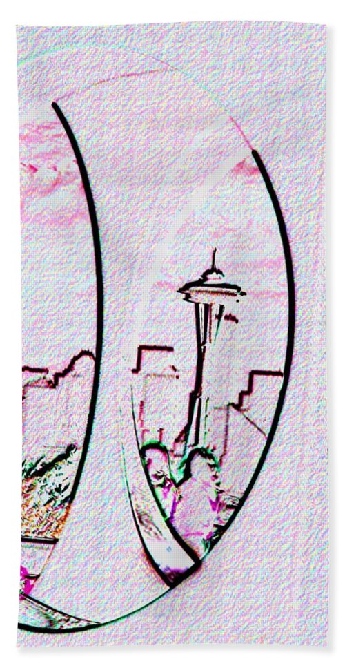 Seattle Bath Towel featuring the photograph Kerry Needle 2 by Tim Allen