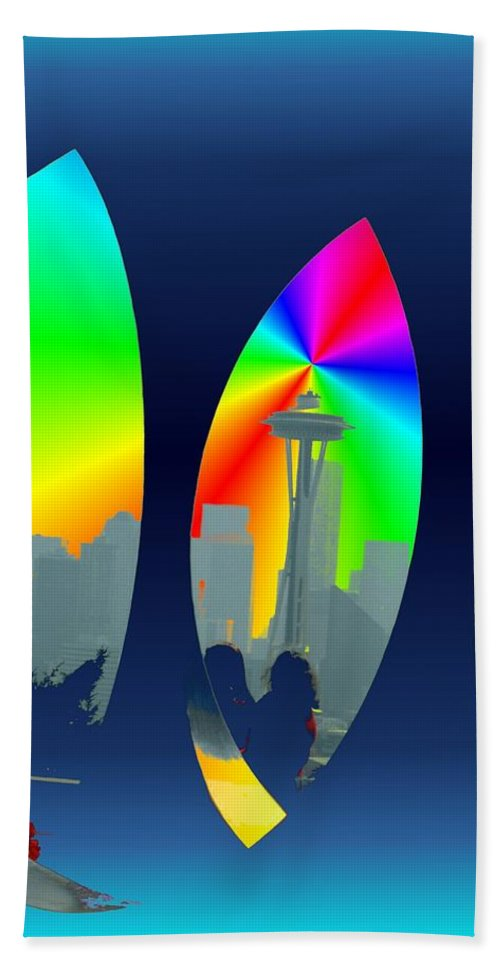 Seattle Hand Towel featuring the digital art Kerry Needle 3 by Tim Allen