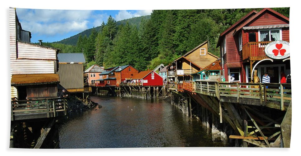Ketchikan Hand Towel featuring the photograph Ketchikan Creek by Michael Peychich