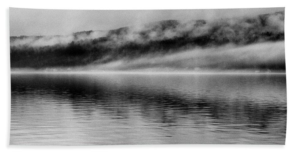 Keuka Lake Bath Sheet featuring the photograph Keuka Mists by Joshua House