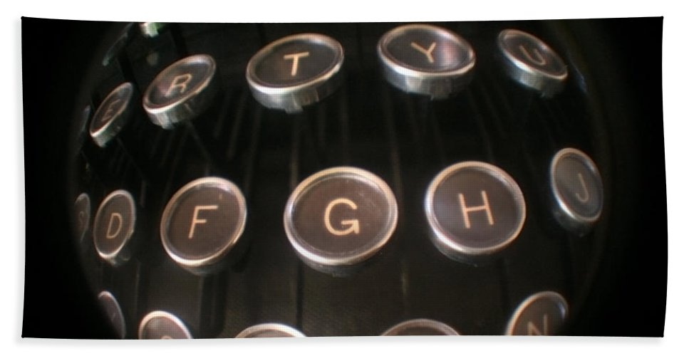 Typewriter Hand Towel featuring the photograph Key To Communication by Jeffery Ball