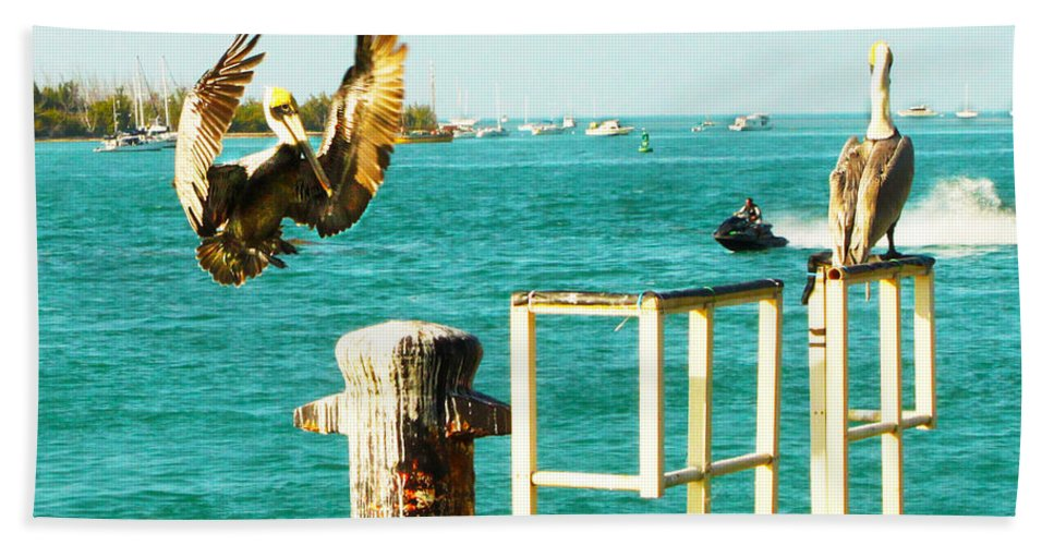 Key West Hand Towel featuring the photograph Key West Landing by Susan Vineyard