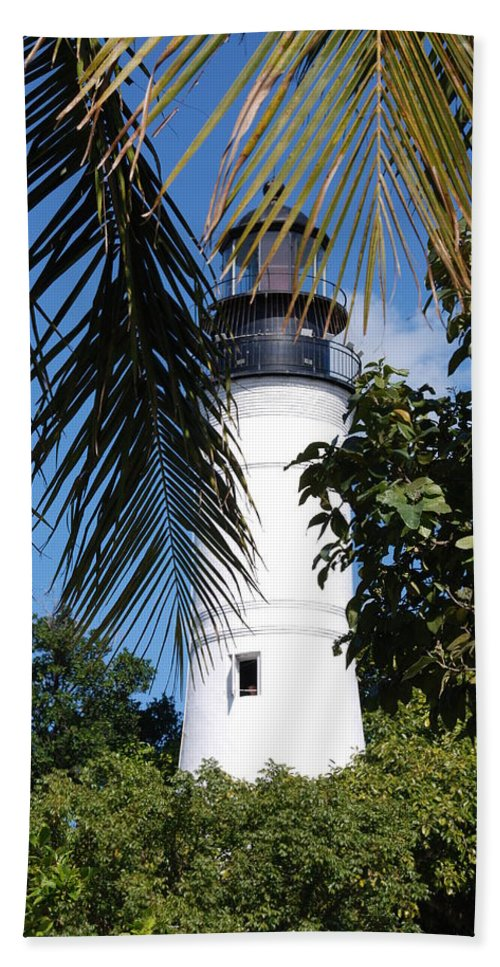 Lighthouse Hand Towel featuring the photograph Key West Lighthouse by Susanne Van Hulst