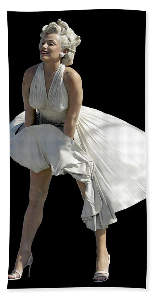 Fashion Hand Towel featuring the photograph Key West Marilyn - Special Edition by Bob Slitzan