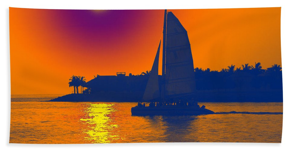 Key West Hand Towel featuring the photograph Key West Passion by Steven Sparks