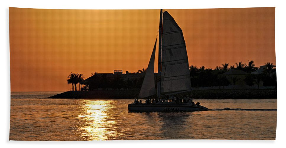 Key West Hand Towel featuring the photograph Key West by Steven Sparks