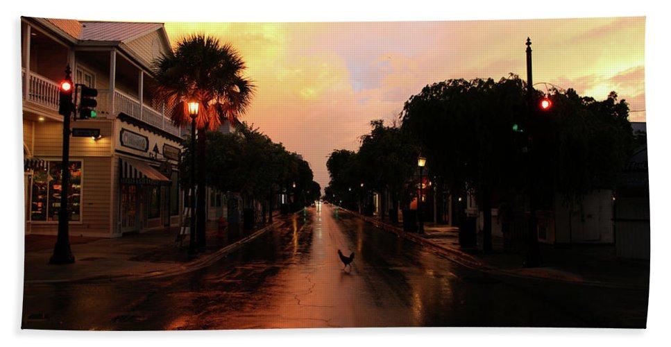 Key West Bath Sheet featuring the photograph key West Sunrise by Artie Rawls