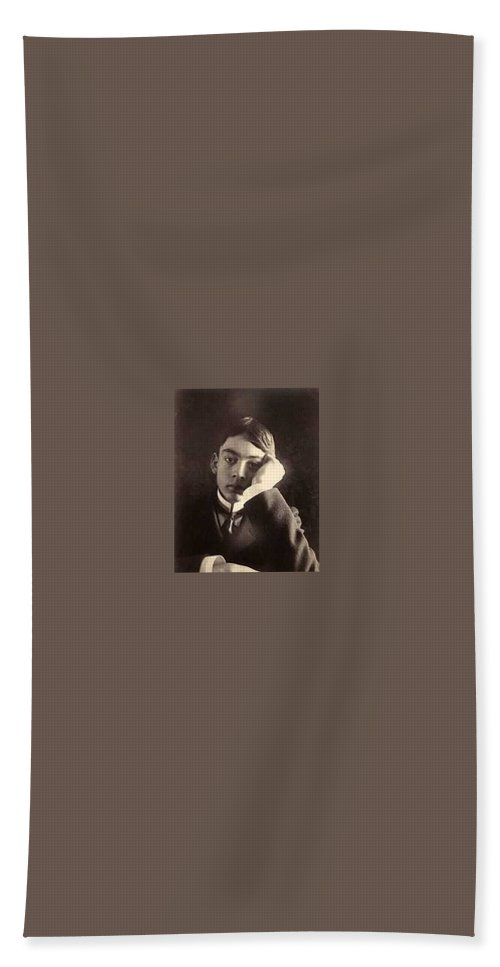 Man Bath Sheet featuring the painting Khalil Gibran Author Of The Prophet by Celestial Images
