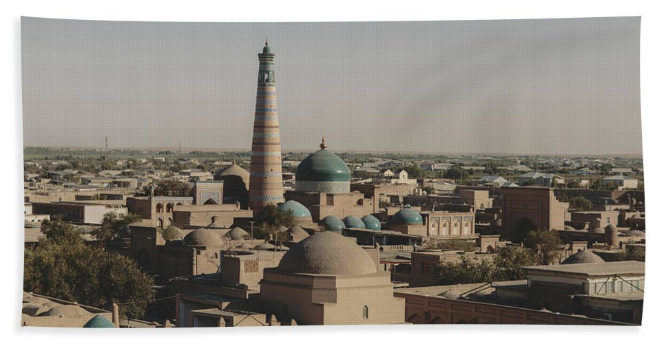 Uzbekistan Hand Towel featuring the photograph Khiva by Andrew Robertson