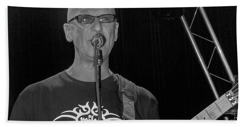 Kim Mitchell Band Rock And Roll Music Concerts Star Lead Singer Bath Sheet featuring the photograph Kim Mitchell by Andrea Lawrence