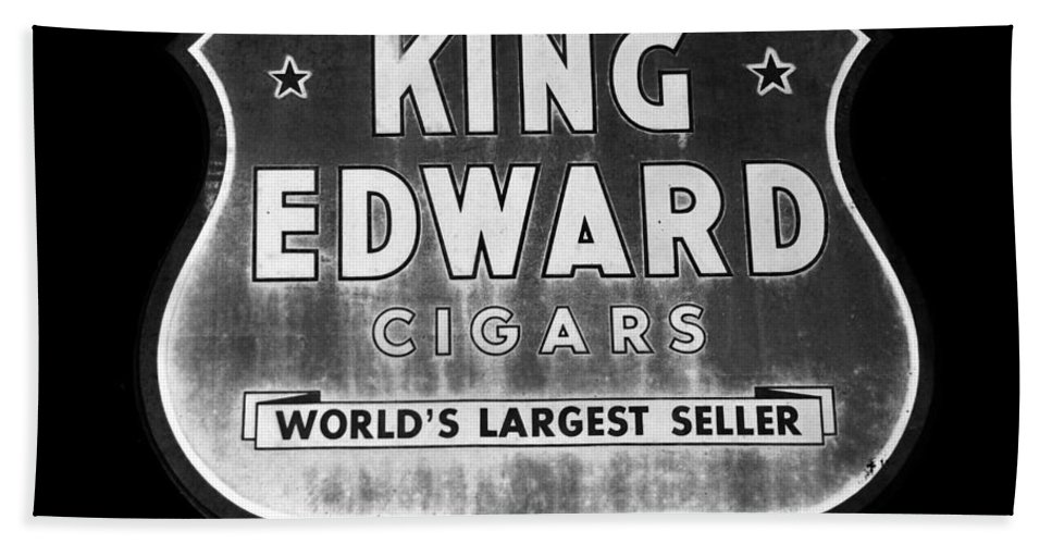Fine Art Photography Bath Sheet featuring the photograph King Edward Cigars by David Lee Thompson